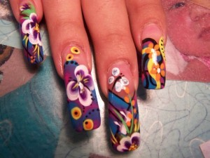 Free Style Colorful Long Nails