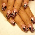 Criss Cross Pattern Nail Design