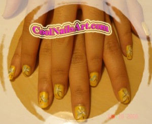 Touch of Spring – Cute Yellow Nails Design