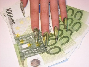 Euro Money Nail Art