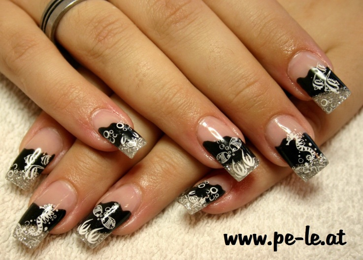 Black Fairy Magical Nail Design - Nail Art Design From CoolNailsArt