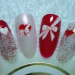 Nail Designs For Valentines Day – Hearts and Bows
