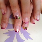 Flame Design On Manicure