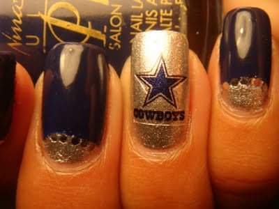 Football Fan Nail Art