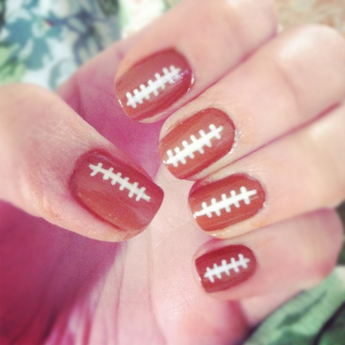 Cute Football Nail Art
