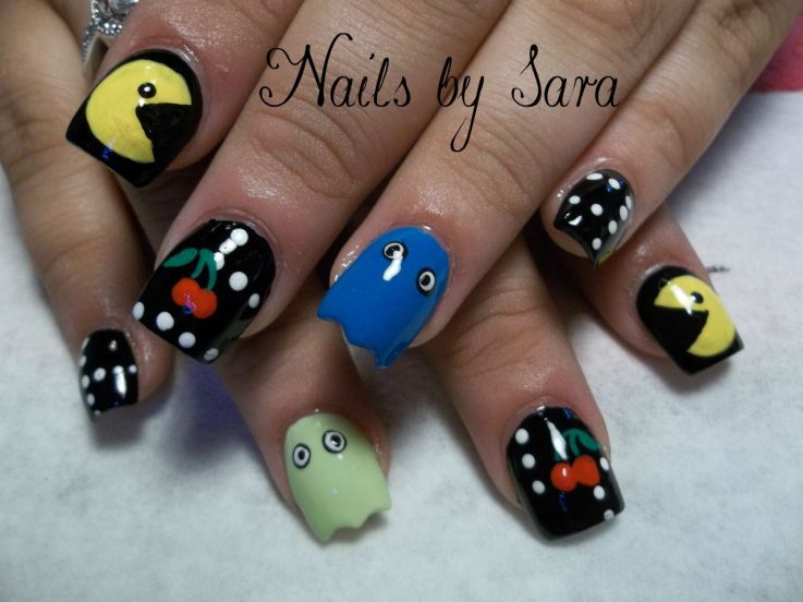 Fun and funky is at the heart of this cool looking nail design - Cool Nail Designs Kids Games#%