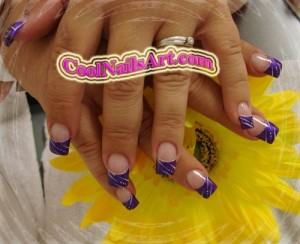 Nails Design Example – Glossy Purple