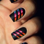 Glowing Fire Nail Art
