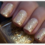 Gold Flakes On Your Nails