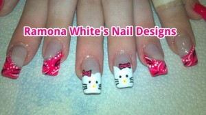 Beautiful Hello Kitty Nail Art From Ramona