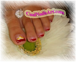 Toes Design – Lovely Red