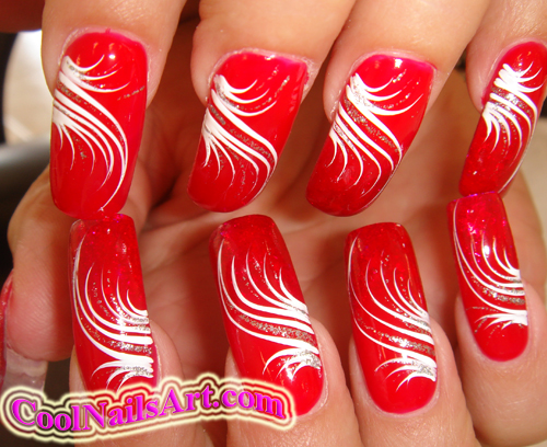 Line Design Nail Art : Simple nail designs with lines ^