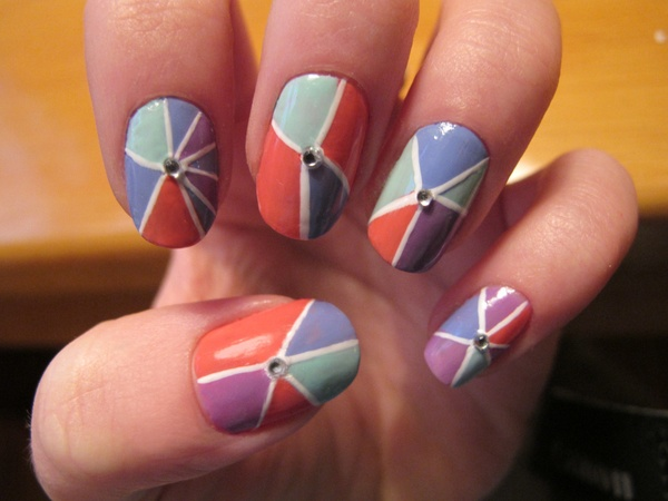 Fraction or Fractured Nail Art