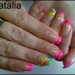 3D Nail Art Flower Design For Office Ladies