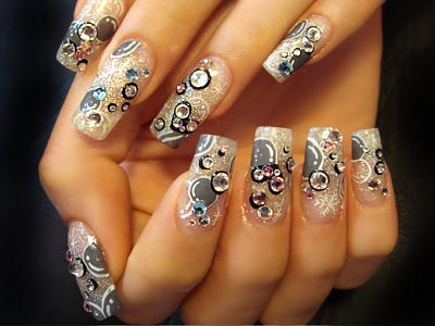Bubbles Nail Design