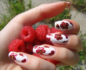 Berry Red Nail Design