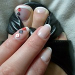 Simple Diamond Nails and Toes Design