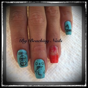 South Park Cartoon Nail Art