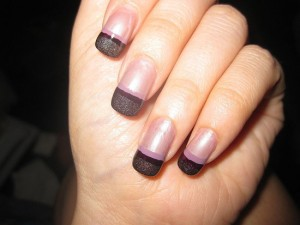 Straight Line French Tip Nail Art