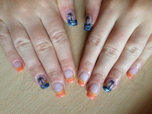 Sunset Island Nail Design