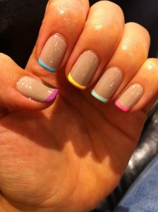 Very Thing Color Tip Nail Art