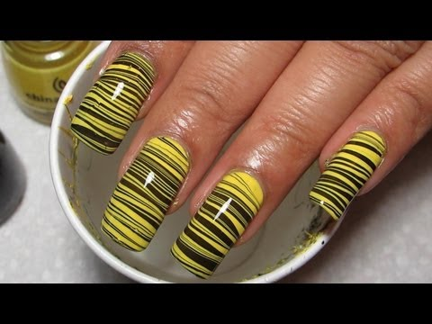 Water Color Nail Art Effect At Home