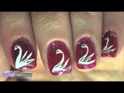 Swan Bird Nail Art Tutorial