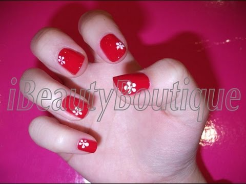 Daisy Flower Nail Art Tutorial