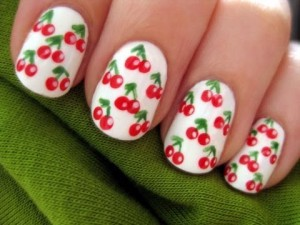 How to Make Cherry Nail Design At Home
