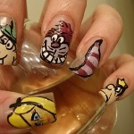 Alice Wonderland Nail Art