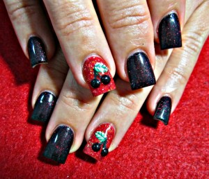 Black Cherry Nail Art