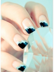 Nail Art with Corner Colored Tip