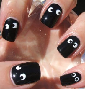 Googly eyes or jiggly eyes Nail Art