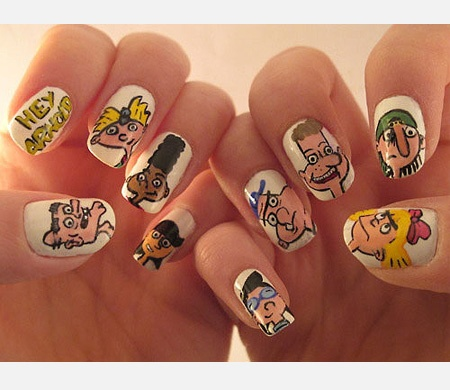 Funny Cartoon Nails For Kids