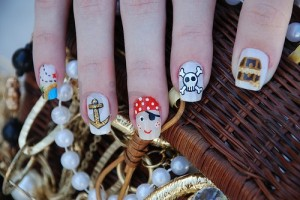 Funny Pirate Nail Design for Kids