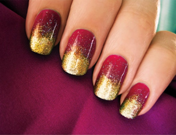 Easy Red And Gold Nail Designs Source