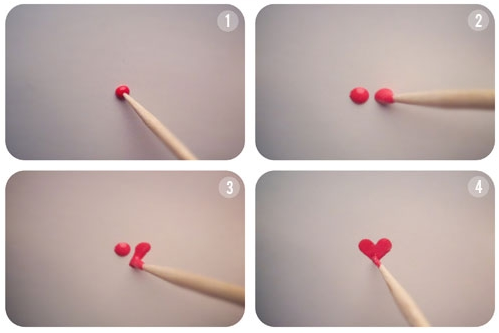Nail Art Tutorial Heart Design