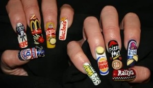 Food Logo Wrappers Nail Designs