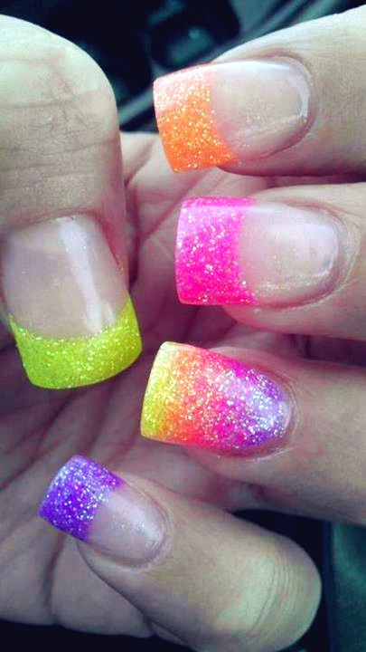 The Amazing Acrylic transparant nails crazy designs Photo