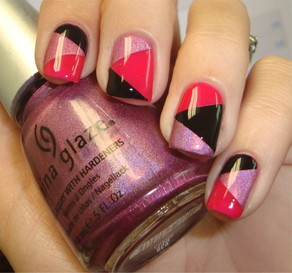 Cross Patchwork China Glaze Nail Art