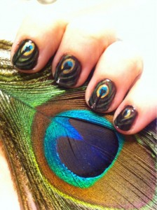 Fancy Feather Nail Art