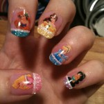 Pretty Disney Princess Nail Art