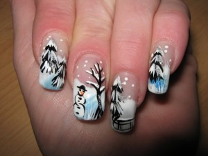 Fun Winter Nail Art