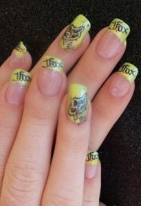 Fox Racing Biker Nail Art