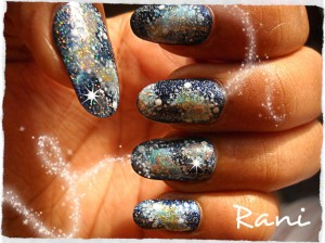 Super Nova Star Nail Art
