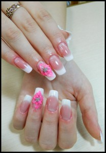 Cute Wedding Nail Design