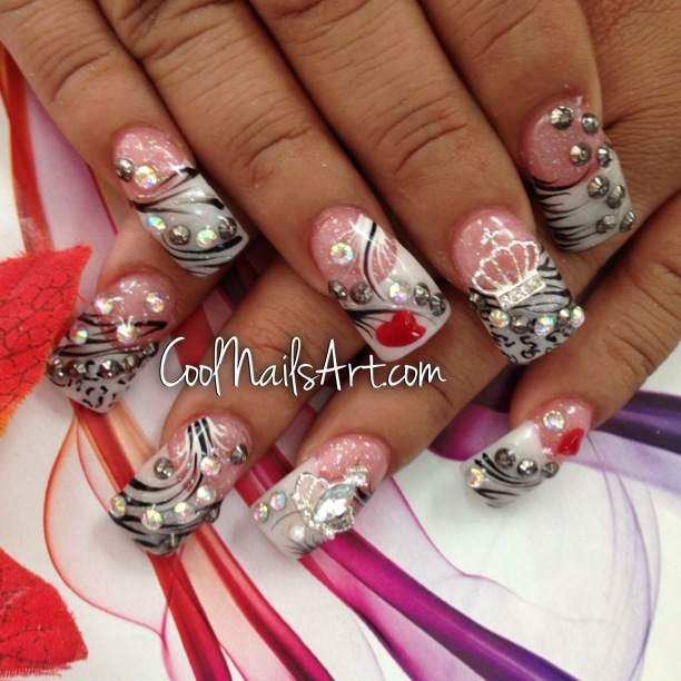 Cool Love Theme For Nail Design