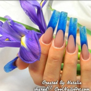 One of a kind Gel nail design