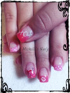 Love Symbols and Icons Nail Design