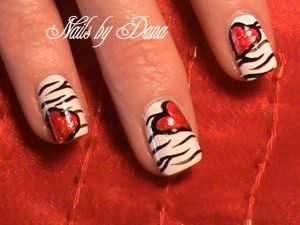 Free Design Valentine's Heart Nails